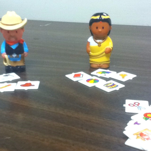 "Give ""presents"" to dolls to practice pronouns. - Re-pinned by @PediaStaff – Please Visit http://ht.ly/63sNt for all our pediatric therapy pins"