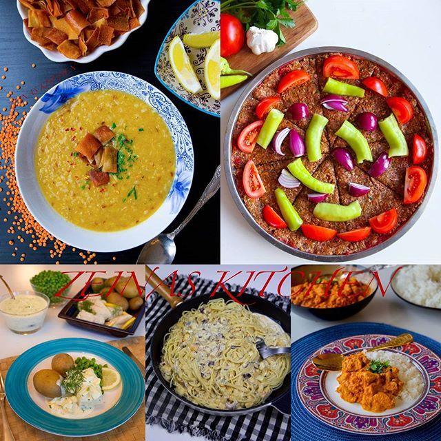 Här kommer veckans matsedel🍴❤ Denna vecka hittar du recept på linssoppa, kokt torsk med äggsås, halloumi carbonara, tikka masala och kebab. Som vegetariskt alternativ finns det bla nordafrikanska potatisbullar och en ljuvlig afghansk maträtt som heter bourani banjan. Det finns även goda baktips som chilicheesebröd och tiramisu😁👌 Recept på allt gott hittar du i länken i min profil➡@zeinaskitchen