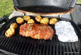 Cooking on my Weber Q-100 and other recipes: Meat Loaf on our Weber Q