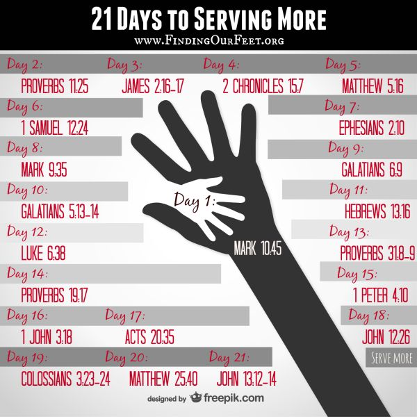 infographic, serve, serving others, serve more, helping others, love, finding our feet, 21 day challenge, 21 day fix,