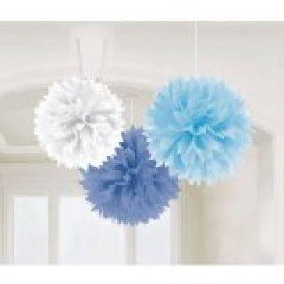 Baby Shower Boy Fluffy Decorations | 3pc