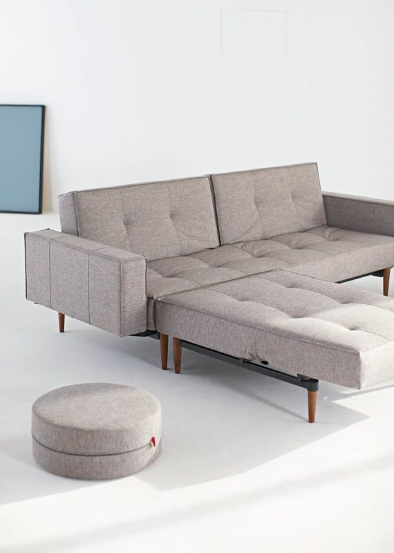 Innovation Splitback Sofa With Arms   Dark Wood