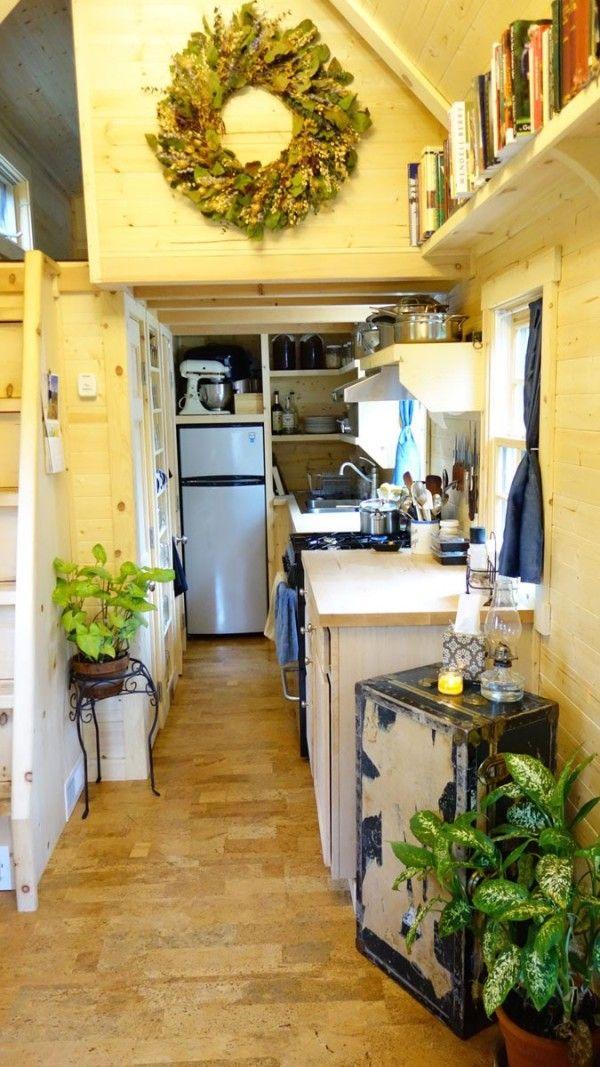 Womans Fy Nyth House On Wheels 003. Tiny House KitchensCustom ...
