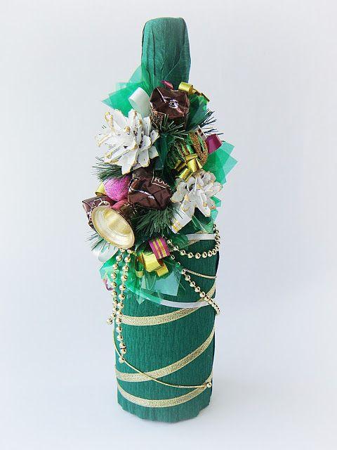 """Декор бутылки """"Новогодний"""" - Tori art"""