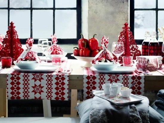 Wonderful IKEA 2011 Christmas Table Decoration ideas