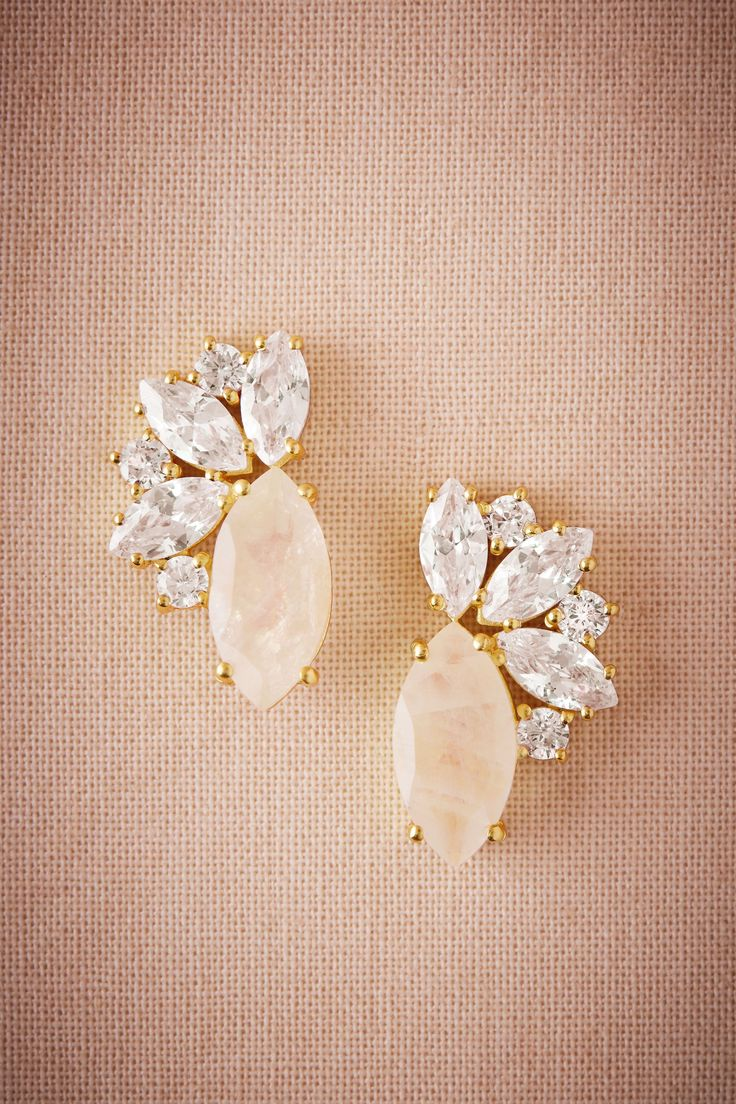 Radiant Moonstone Earrings from @BHLDN