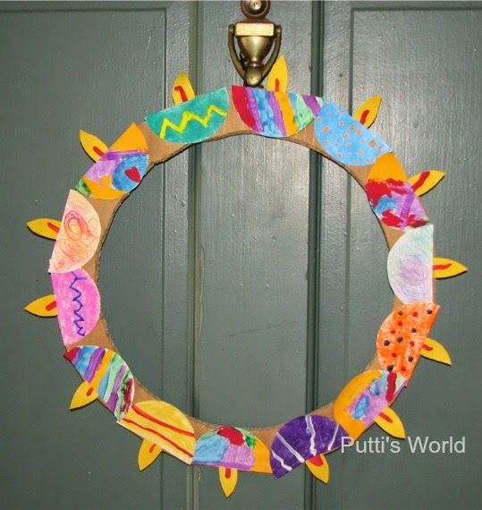 diwali paper wreath