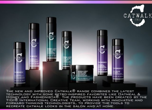 New Catwalk by TIGI hair products