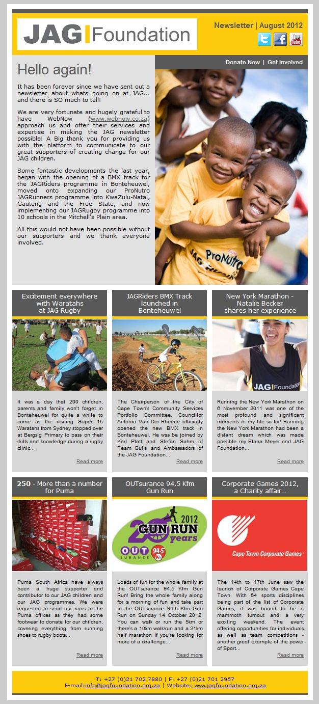 Jag Foundation Newsletter