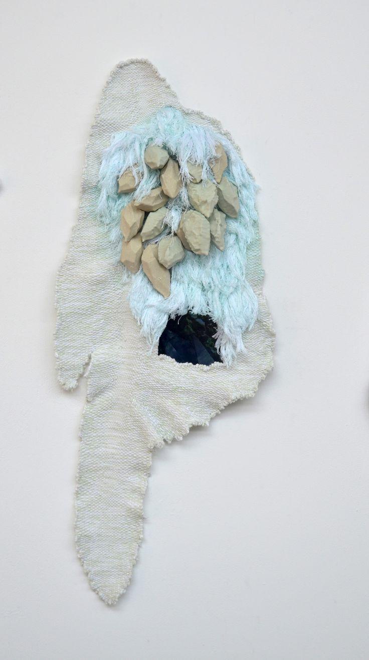 loom-ing: John Brooks Our Chart (detail) Hand woven wool, cotton, rayon, lurex, expanding foam, latex, digital screen 2013