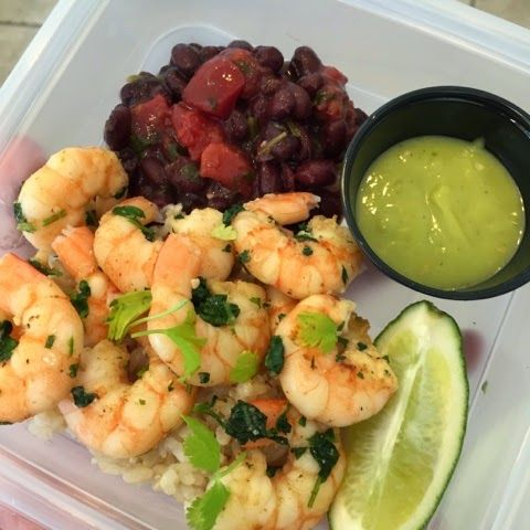 Advocare 24 day challenge recipes. Clean eating cilantro lime garlic shrimp with brown rice and black beans