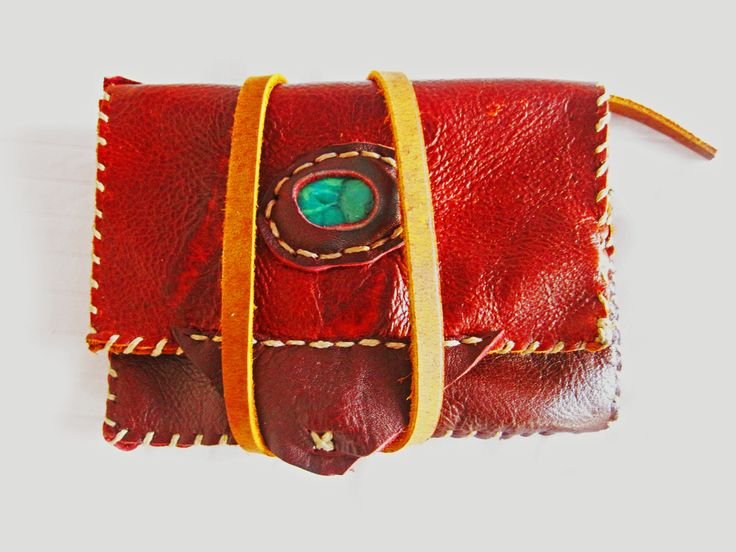 "African Jade (Buddstone) gemstone and red-brown leather wallet, love the way these two colours compliment each other.  ""Jade has been an important gemstone throughout history, especially among the Chinese and Latin American cultures. Ancient carved figures have been found from these societies, where the value of Jade was sometimes worth even more than of Gold. """