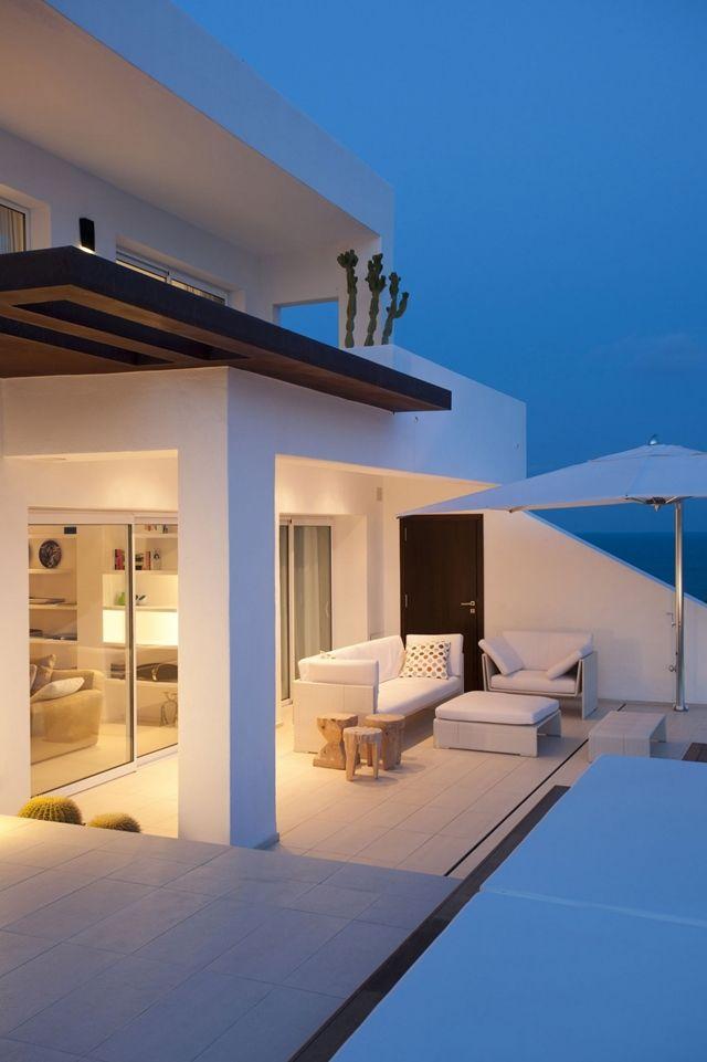 Mediterranean Modern Home Architecture In Ibiza, Spain