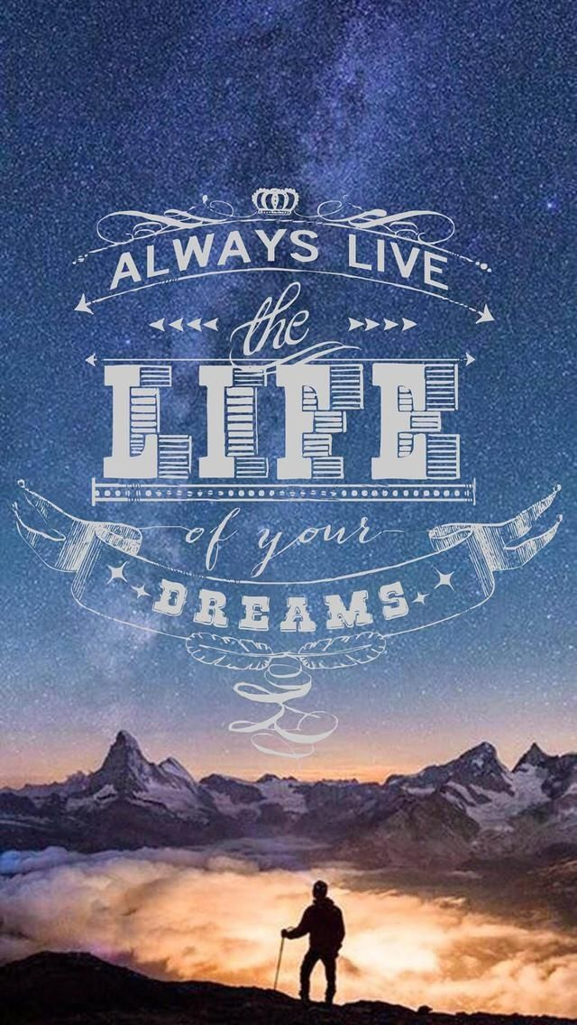 Life. Beautiful Quotes wallpapers for iPhone. Tap to see more Signs & Sayings Apple iPhone HD Wallpapers. Inspirational, nature - @mobile9