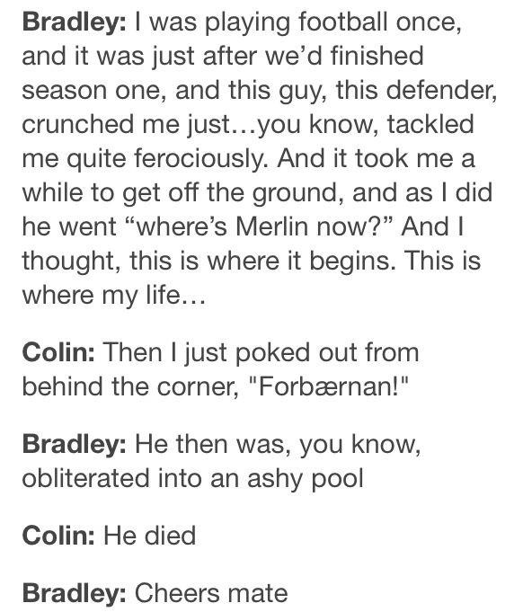 "I love how Colin's like, ""you're welcome"""