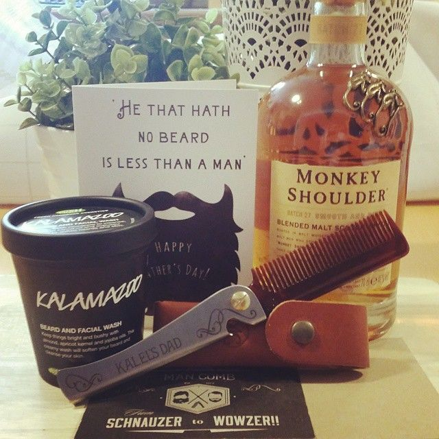 Happy Father's Day #spoiltdaddy #beard #monkeyshoulder #mancomb @lushcosmetics  @mnkyshldruk