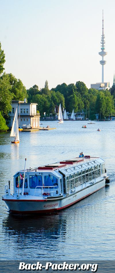 Alster lake in Hamburg, Germany #travel #hamburg