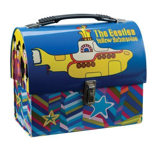 Vandor 64276 The Beatles Yellow Submarine Dome Tin Tote, Multicolored by Vandor. $15.22. Snap Closure with Handle. Features Yellow Submarine. Go retro with this adorable domed tin tote featuring Yellow Submarine. Collect all of your favorite characters or give as a gift to a friend. Put it to good use and pack your lunch for school or the office.. Save 10% Off!