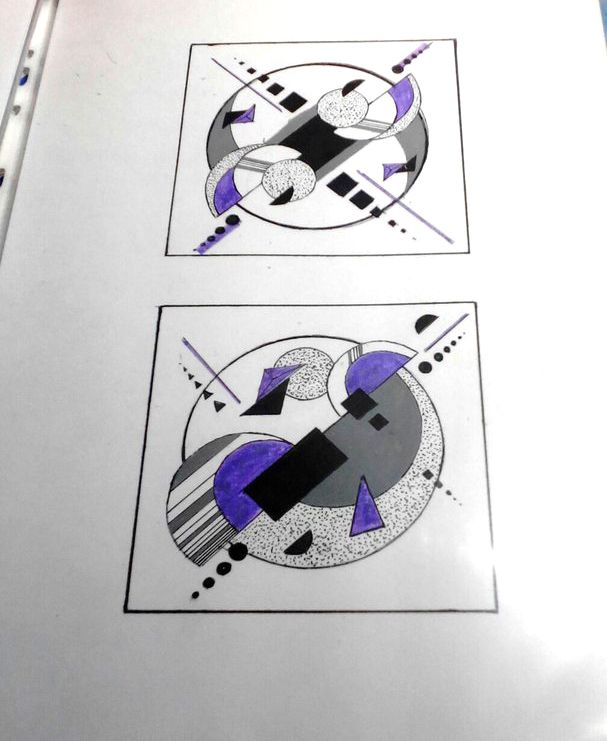 Симметрия и Ассиметрия, графика \ Symmetry and asymmetry, graphics