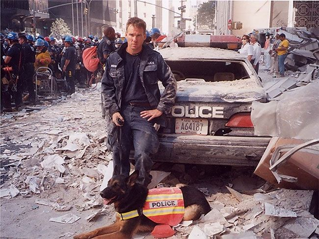 dogs of 9/11 | James Symington and Trakr in the aftermath of 9/11