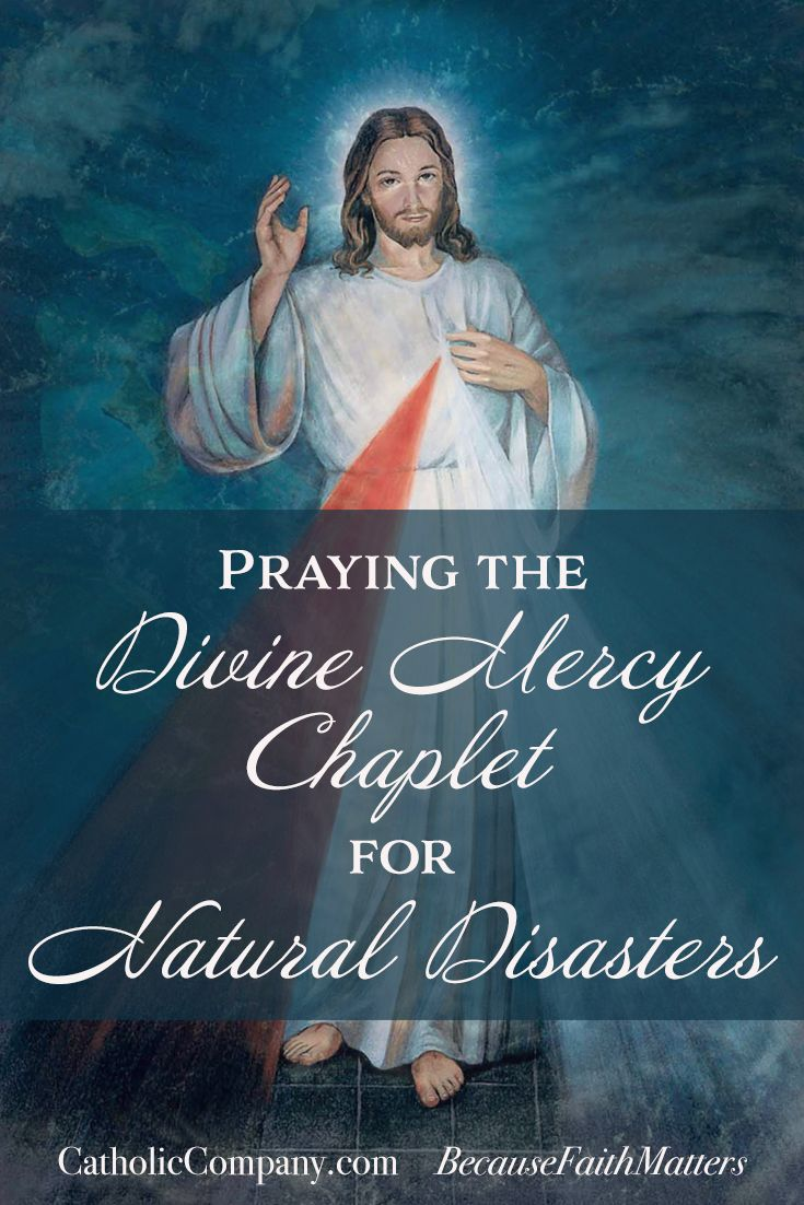 In the Diary of St. Faustina, Sr. Faustina recounts an experience of how the prayers of the Chaplet of Divine Mercy are powerful amidst great storms. Today I was awakened by a great storm. The wind was raging, and it was raining in torrents, thunderbolts striking again and again. I began to pray th