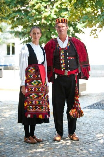 Croatian traditional clothes from Šibenik, Šibenska narodna nošnja, Hrvatska, Croatia