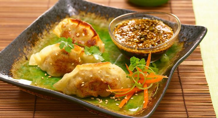 Jade Dumplings With Soy Sesame Dipping Sauce Recipe — Dishmaps