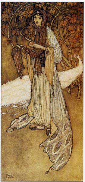 Lost in Autumn time warp ~ Princess Scheherazade - Illustration - Edmund Dulac