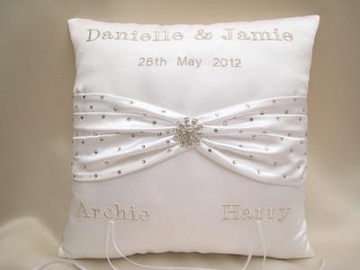 Cushion I Made For Glamour Model Danielle Lloyd S Wedding To Footballer Jamie O Hara Lots Of Swarovski Sparkles Ring Cushions Pinterest