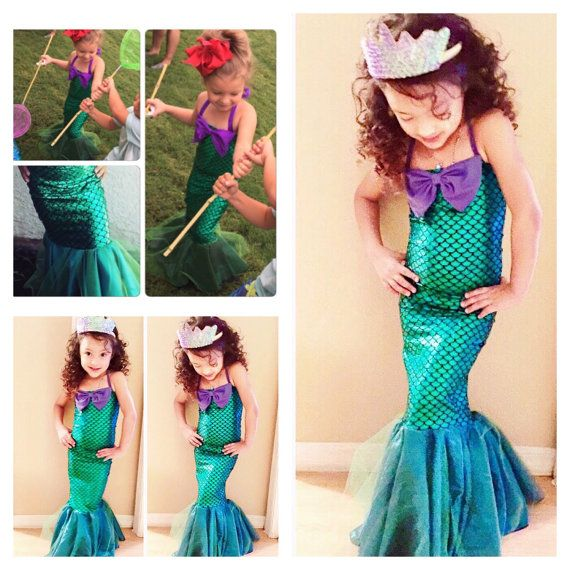 MERMAID STAR toddlers and girls mermaid dress by MTBGBOUTIQUE