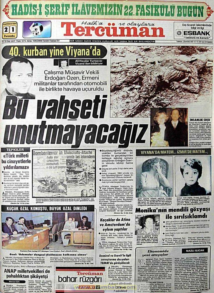 Tercüman gazetesi 21 haziran 1984