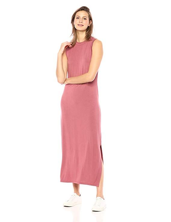 a1aebbc7a3d Daily Ritual Women's Jersey Mock-Neck Maxi Dress in 2019 | Dresses ...