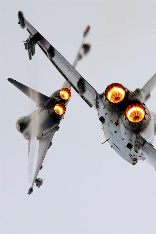 classy-captain:  Austrian Airforce Eurofighters by Zachery Fuhrman classy-captain