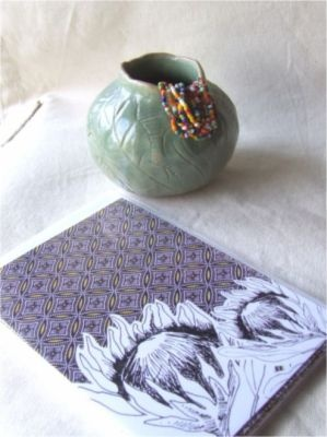 Hahaha, look what I found!!! Shwe Shwe Greeting Cards with Protea from Jamtin