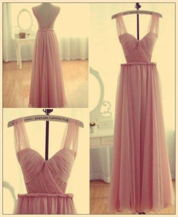 Dress: pink maxi pink night night clothes nude chiffon chic prom cute wedding prom lovely fashion