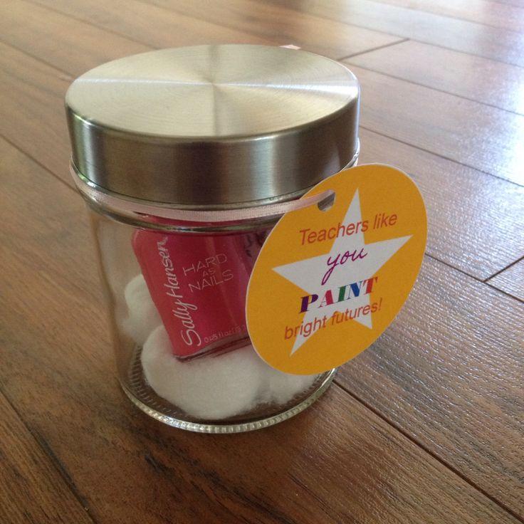 DIY easy teacher gift fill a cute glass jar with a