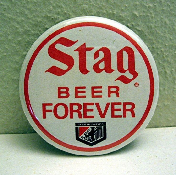 Old Stag Beer Forever Heileman Pinback Adv Button Pin