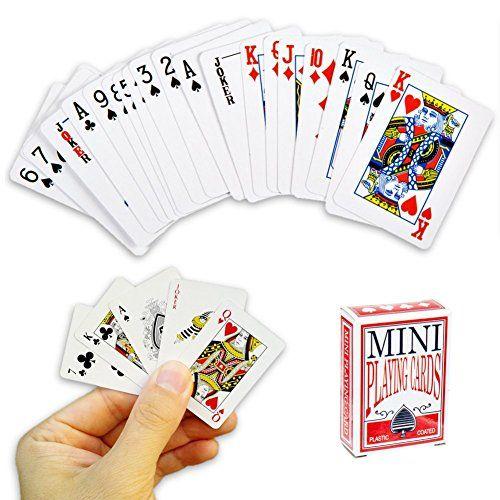 Mini jeu de cartes à jouer 54 cartes – Jeu de voyage, poker, solitaire, bataille etc…: Vous êtes amateurs de jeux de cartes ? Ça tombe…