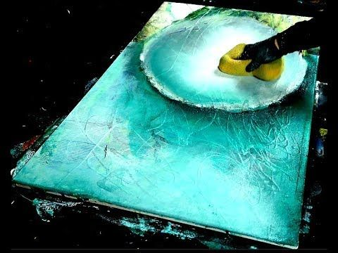Technique of abstract painting – Demonstration of abstract painting (8) Althea – YouTube