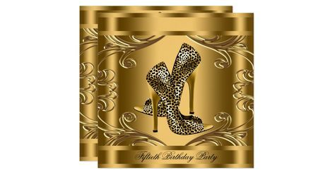 Beautiful gold swirls black and gold leopard birthday party invitation. This elegant black and gold leopard birthday party invitation is easily customized for your event by adding your event details, font style, font size & color, and wording.