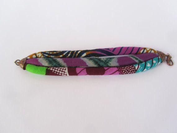 Roze Manchet armband Afrikaanse Print Batik textiel door nad205