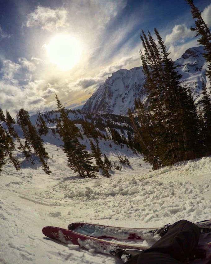 The track to High Rustler at Alta Ski Area. Shot with a GoPro Hero4 Black #goprogirl