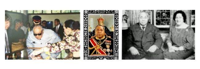 И в заключение еще несколько иллюстраций из жизни бывшего тонганского короля.  Здесь фрагмент с официального изображения, где монарх сидит на троне тонганских королей;  Король и его супруга Халаевалу Матаахо в 1970-е годы. После кончины Джорджа Тупоу IV его супруга была объявлена вдовствующий королевой;  И фотография, изображающая короля в последние годы жизни: Джордж Тупоу IV открывает Национальный музей, здесь монарх склонился над стендом.  Джордж Тупоу IV был королем 41 год и скончался 10…