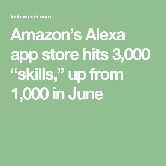 "Amazon's Alexa app store hits 3,000 ""skills,"" up from 1,000 in June"