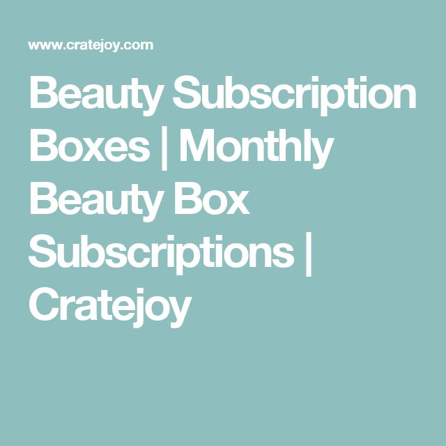 25+ best ideas about Monthly beauty box on Pinterest | You beauty ...