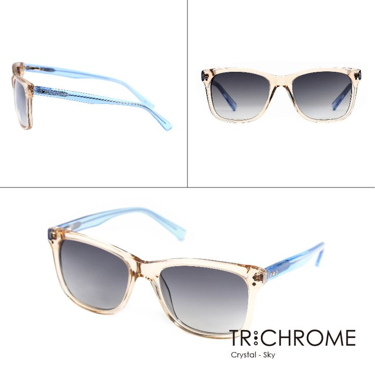 Imagine prestigious elements of nature are infused into the temples of eyewear. Noble colours are redefined by the posh patterns like marble, bull's horn and wood grain to reveal a unique style of classiness.  Crystal with Sky : http://goo.gl/kRZBHP  #trichromeeyewear #sunglasses #crystal #clear #simple #translucent #SS #fashion #air #floating #fresh #gift #valentineday #love