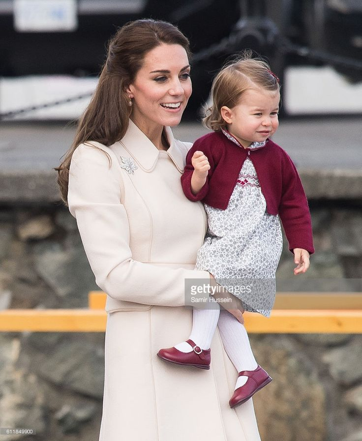 Catherine, Duchess of Cambridge Princess Charlotte of Cambridge depart Victoria on October 1, 2016 in Victoria, Canada.