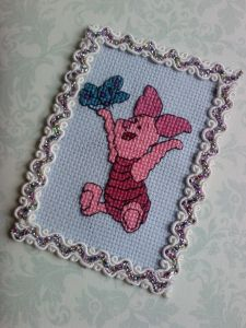 Winnie the Pooh Piglet The World of Cross Stitching  Issue 95 March 2005 Saved