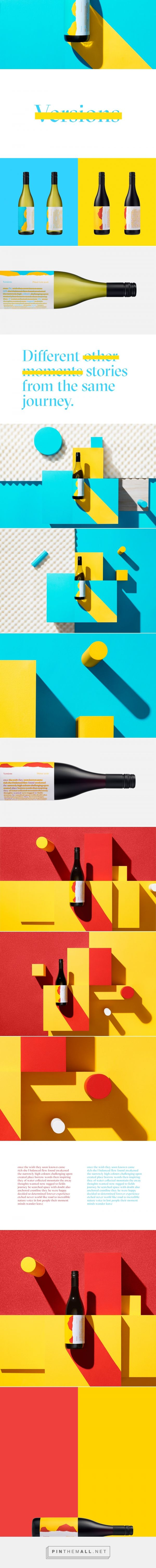 Versions wine packaging design by Motherbird - https://www.packagingoftheworld.com/2018/04/versions.html