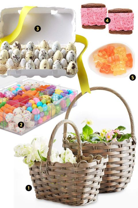"For those family members who could never outgrow the joy of receiving a sweets-filled Easter basket, go big with these tasteful picks. A tackle box full of Dylan's Candy Bar goodies, Sugarfina's cult-favorite champagne bears, the sweet and pillowy Malvi marshmallow sandwiches, and a sophisticated box of chocolate ""quail"" eggs all inspire that same childlike wonder in an chic, adult-sized package."
